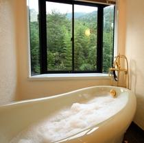 【2階洋室・ギムレット】バスルーム(猫足バスタブ・アンティーク型水栓)