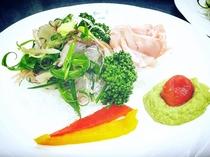夕食イメージ お魚盛り合わせ キンメ、イサキ(アボカドディップなど3種の味で)
