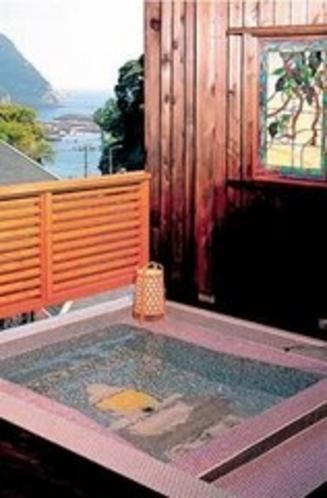 露天風呂客室のお風呂例(ダブルルーム例)