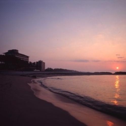 弓ヶ浜半島に沈む夕日