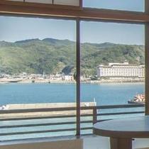 ◆客室から望む小湊の海