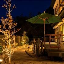 海眺めの庭園*夜は違った雰囲気をお愉しみいただけます…