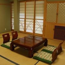 【6畳のお部屋一例】6畳のお部屋は1階にあります。カップルや年配のご夫婦におすすめです