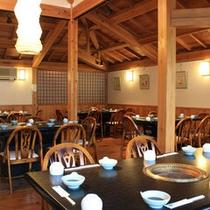 【焼肉喫茶・木の葉】朝食や昼食会場としても利用致します。