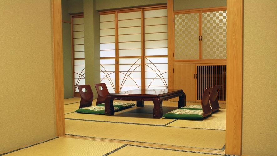 *【和室12畳+6畳】2間続きのお部屋なので3世代やグループでのご利用におすすめです。