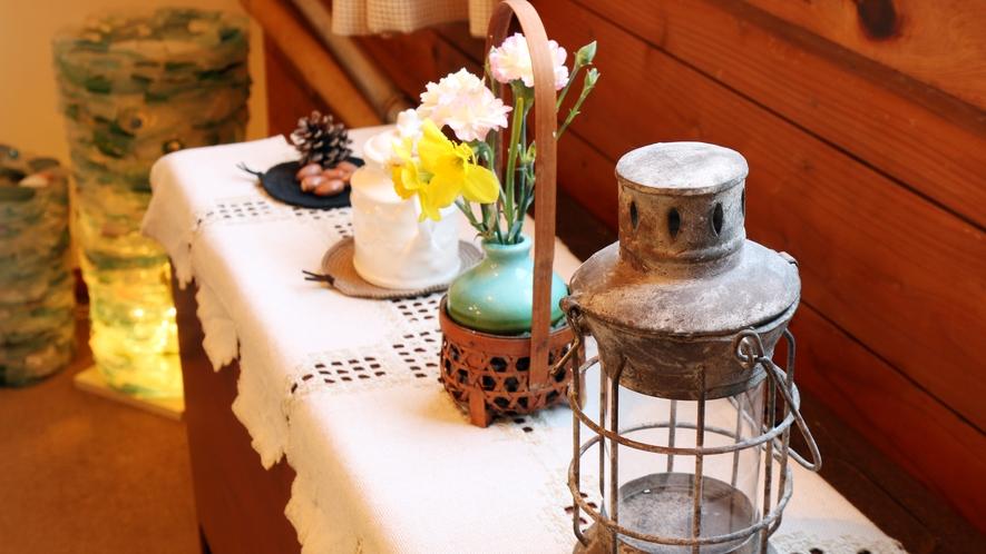 ◆館内に飾れた装飾物もぜひご覧ください。アンティークな空間を演出します♪