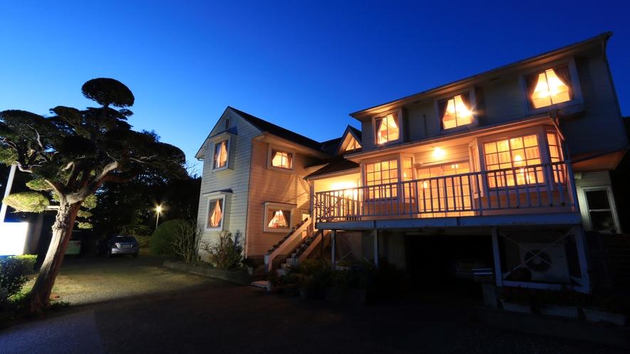 ◆外観 白亜の館 カントリーな雰囲気のペンションです