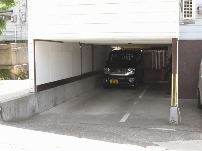 屋根付き 地下駐車場