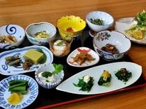 野沢温泉の季節膳