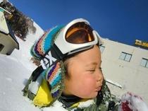 ロッジでんべえで雪遊び!