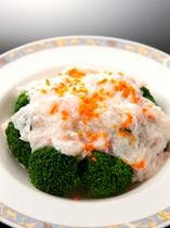 単品イメージ/季節野菜の蟹肉あんかけ