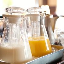 朝、目覚めの一杯に【朝食一例】