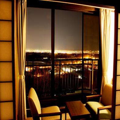 【夜景】タウンビュー夜景が見えるお部屋確約プラン【天然モール温泉&2食付】