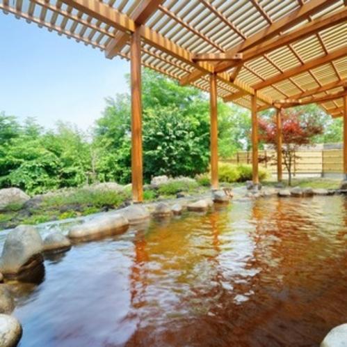 天然モール温泉・自慢の露天風呂♪