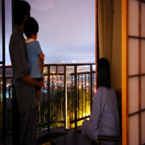 和室帯広側からの夜景★