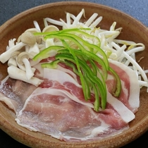 【陶板】マーブルポークと野菜の陶板焼き