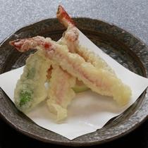 【かに会席一例】カニの天ぷら