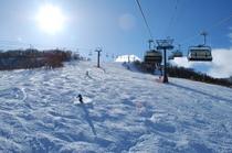かぐらスキー場は、どこで撮影しても絵になるゲレンデです。