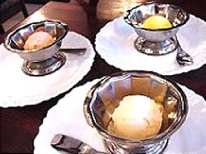 デザートの手作りシャーベット