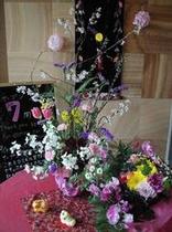 玄関入口には美しい季節の花がお出迎え!