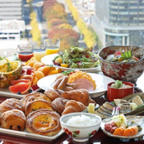 和洋の朝食バイキング
