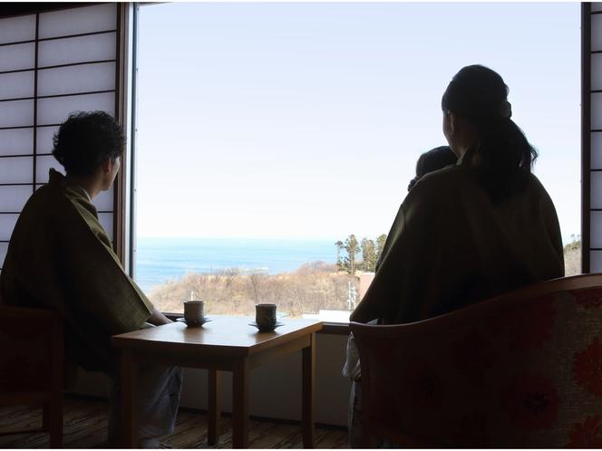 和室海側(禁煙)から眺める景色
