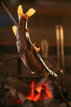 岩魚の山椒味噌焼き