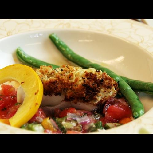 【白身魚の夏野菜ソースかけ】彩豊かな夏野菜たちは視覚と味覚両方楽しめます★