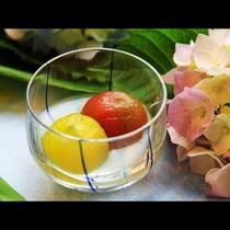 【トマトのコンポート】夏らしく見た目も涼やかに★優しい甘さに仕上げました。