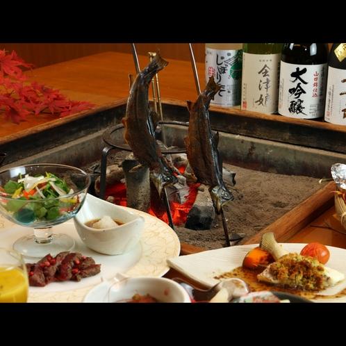 絶品!岩魚の山椒味噌焼き。味噌も自家製のものを使用しています。