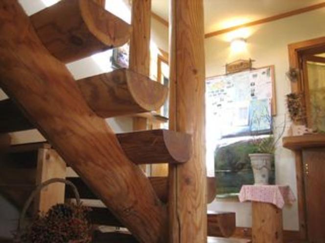 丸太の階段1