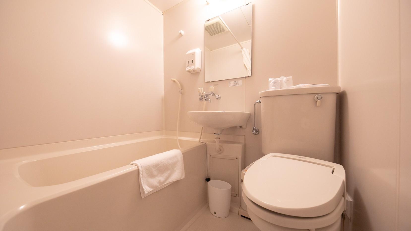 【バスルーム】清潔感溢れるユニットタイプのバスルーム※ウォシュレット対応