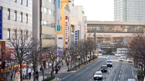 盛岡駅南口改札より徒歩2分!まさに駅前がフロント感覚。ビジネスや観光の拠点として、この上ない利便性。