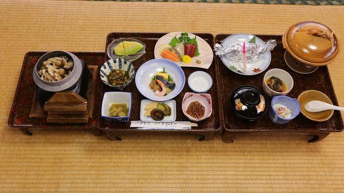 選べるメイン料理は5品から選択!女将特製こだわりの季節食材御膳Bプラン(WI-FI完備)