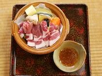 えらべるメイン料理-白金豚陶板焼き-