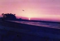 柴垣海岸の夕日