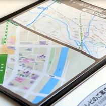【周辺情報MAP】客室にホテル周辺情報案内をご用意