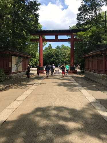 氷川神社参の鳥居