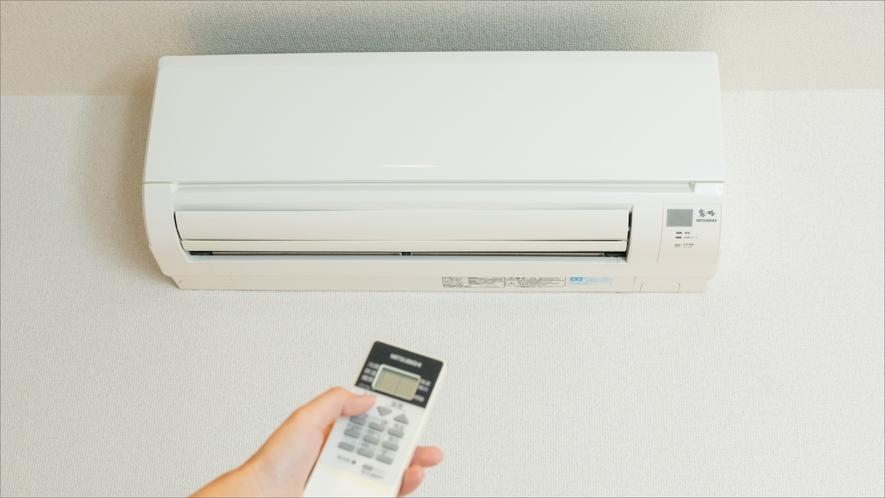 全室個別空調です。お客様のお好みで室温調整いただけます。