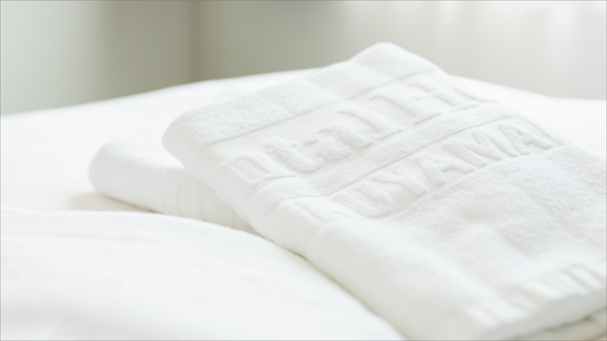 タオル類のご追加は無料です。必要に応じて、フロントまでお声がけください。