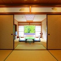 【山側眺望】和室~「12.5畳」 or「 10畳+6畳」