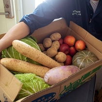 契約先の阿野観光果樹園の果物や伊達の道の駅から野菜を買い付け。近くの農場のミニトマトや根菜も。