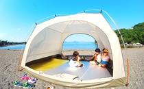 大瀬海水浴場にてテント