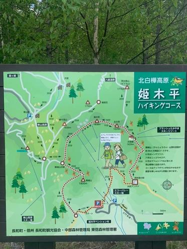 裏山のコースマップ