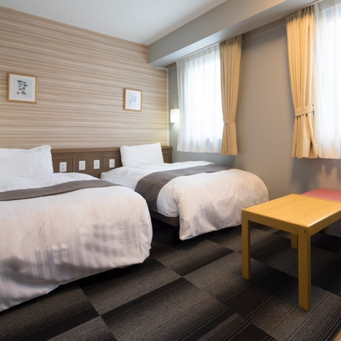 ◆ツインエコノミー◆ベッド幅110センチ×2台◆広さ16平米◆