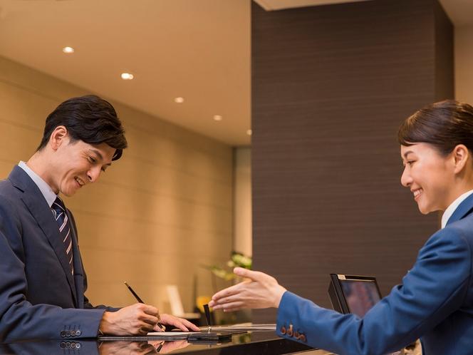 【フロントサービス】領収書のお宛名の指定は精算時にお申し付け下さい。