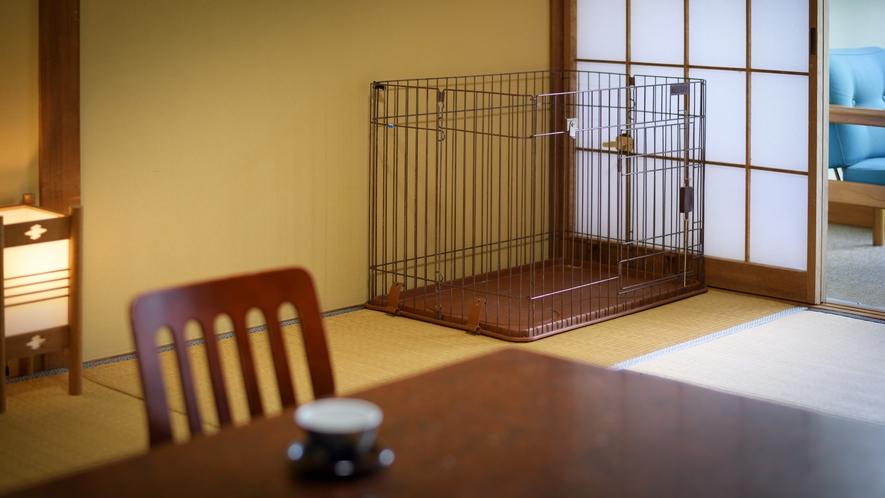 【ペット可和室】小ペット(2匹まで)と 無料で一緒に泊まれる専用のお部屋をご用意しております。