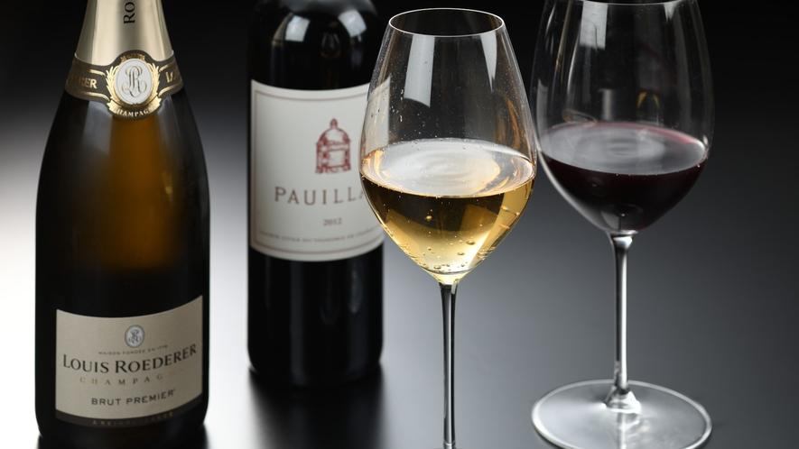 日本ソムリエ協会ワイン検定シルバークラス認定の若旦那が推奨するワインを、リーデル者のグラスでご用意
