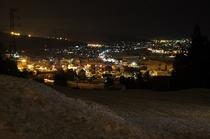 ペンション前からの夜景