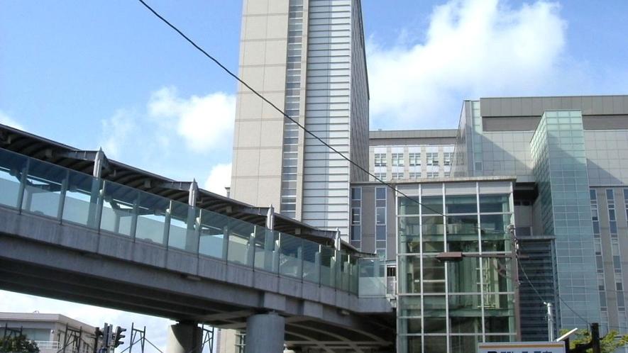 高岡駅直結通路で雨の日も雪の日も安心♪